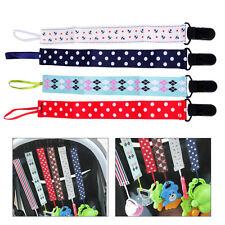 4pcs Baby Pacifier Holder Newborn Boys Girl Dummy Soother Leash Strap Clip Chain