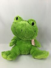 "Green Frog Lover 15"" Stuffed Animal Sitting Kids of America Pink Bow Big Head"