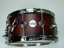 "DW COLLECTORS VLT SATIN TOBACCO SUNBURST 14""x7"" SNARE Drum USA / Rullante Tambor"