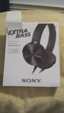 SONY MDR-XB450AP XB450 Extra Bass Headphones - Black - New in open box Exc Cond