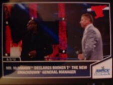 2013 Topps Best of WWE #37 Mr. McMahon Declares Booker T Manager PURPLE BACK VAR