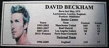 Soccer David Beckham  picture Silver Sublimated Plaque NEW Design choose 1