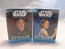 Star Wars TCG par de luz y el lado oscuro cubiertas arrancador de ataque de los clones