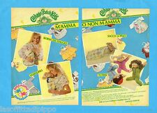 TOP985-PUBBLICITA'/ADVERTISING-1985- GIOCADAG CABBAGE PATCH KIDS -2 fogli
