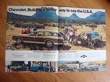 1972 Chevrolet Wagons Ad Sportvan Chevelle Suburban Vega Arizona Oregon MA CA
