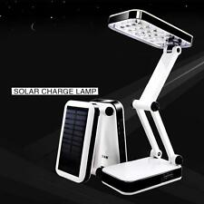 Practical 24 LED Solar Foldable Desk Lamps Rechargeable Table Light For Reading