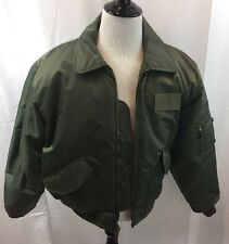 Men's 2XL Green Flight/Bomber Jacket CWU- 45P MIL-J-6141 USAF Excellent