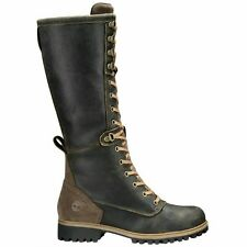 TIMBERLAND WOMEN'S DARK BROWN WHEELWRIGHT TALL LACE-UP BOOT SIZE 9.5