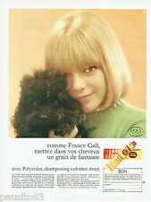 PUBLICITE ADVERTISING 115  1966   le shampoing colorant doux avec France Gall