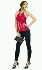 $158 GUESS by Marciano Catherine Sequin Halter size S