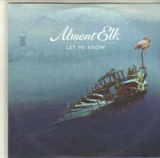 (CI473) Absent Elk, Let Me Know - 2010 DJ CD