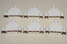 LEGO LOT OF 6 NEW MINIFIGURE PLAIN WHITE TORSOS FOR GHOST STAR WARS PIRATE