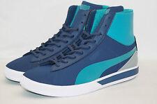 PUMA FUTURE SUEDE MID LITE PERF tg. 43 uk.9 blu molto leggera scarpa