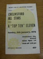 11/01/1976 Chelmsford city xi v un top dix onze [friendly] (pli, marques légères