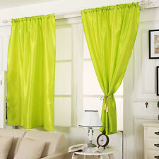 """57""""*70""""Pure Color Lined Rod Wear Ready Made Curtains Luxury Thermal Blackout 1pc"""