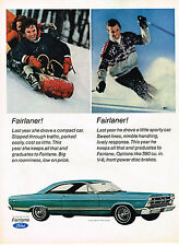 Vintage 1967 Magazine Ad Ford Fairlane 500 Big On Roominess Low On Price