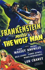 Frankenstein Meets The Wolf Man Vintage Movie Poster 18x24