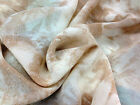 """Beige/Cream Viscose/Rayon Blend Faded Floral Print Dress/Craft Fabric 60"""" Wide"""