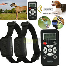 Waterproof LCD Shock Vibrate Remote 2 Dogs 800 Yards Remote Dog Training Collar