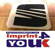 Seat Logo In Black Stickers Vinyl Decal Replacement x2 *****Unique*****