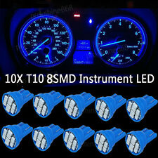 10K Blue LED 194 Wedge Speedo Dash Gauge Instrument Panel Light Bulb For Pontiac