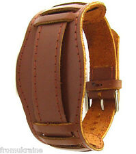 LIGHT BROWN 18mm OLD 1920s Army Military Style Soviet Russian Leather Watch Band