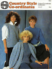 ~ Knitting Pattern For Lady's Sweaters, Jacket & Top ~