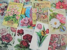 12 Pc.Set Gorgeous VINTAGE SEED CATALOG DIE CUTS for CRAFTS | S24 | OPC Brand