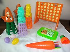 Great Set of 4 Easter Games- Pick up Sticks, Ball Toss, Checkers, Connect Four