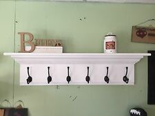 "Wall Coat Rack Fancy Mantel Coat Rail 42"" with Crown Molding"