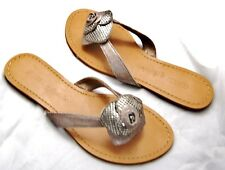 New Authentic Guess  Flats By Marciano Banks2 Silver/Tan Size 6.5