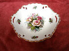 BEAUTIFUL SAJI ROSE PATTERN PIERCED FINE CHINA PLATE MADE IN JAPAN