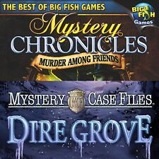 BIG FISH GAMES:MYSTERY CASE FILES:DIRE GROVE and MURDER AMONG FRIENDS.SHIPS FREE