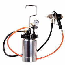 2ltr AUARITA Pressure Tank Air Regulator Paint Pot Spray Gun 1,8mm 2x Hoses