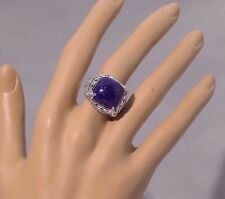 HSN Victoria Wieck Blue Lapis Gemstone & White Topaz Sterling Silver Ring size 6