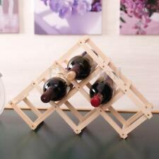 6 Bottles Folding Wine Holder Rack Shelf Storage Bar Display Stand Organizer