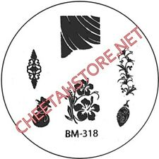 Stamping plaque Bundle Monster BM318 pour vernis ongles