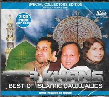 BEST OF ISLAMIC QAWWALIES  ( 3 KHANS  ) -3CDs COLLECTOR SET