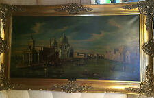 "Huge Superb F Guarana ""Venice City Scene"" Oil Painting - Signed And Framed"
