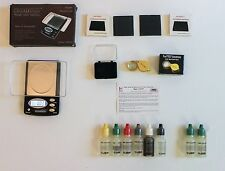 AWS1000 Pro Scale + Consumer's Kit 6 Pack of Gold & Silver Testing Acids + Loupe