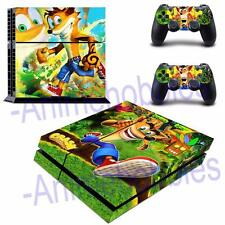 Crash Bandicoot Vinyl Skin Decals Stickers for PS4 Playstation 2 Controllers
