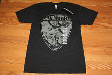 "NEW Mens AMERICAN APPAREL Black ""All Night"" Graphic T-Shirt Size L Large"