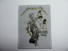 metallica justice for all whiter border    WOVEN  PATCH