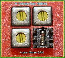 IF Tuned Transformer Yellow 455 kHz Variable Coil Inductor CAN 10mm LOT 4 PCS