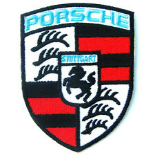 1 X PORSCHE Advertising Embroidered Iron on Patch Blue Sky Supercar Germany WRC