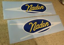 "Naden Vintage Fishing Boat Decal 14"" Die-Cut 2-PK FREE SHIP + FREE Fish Decal!"