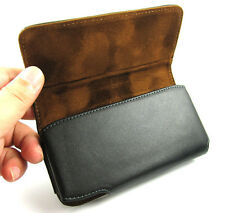 for Apple iPhone 3GS 4G 4S Black Leather Pouch Carrying Case Belt Clip Holster