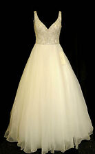 Ronald Joyce Designer Wedding Dress 18009 Jayne Ivory Organza Size 10 RRP £1395
