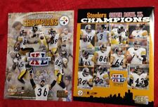 2 Pittsburgh Steelers NFL Super Bowl 40 Champions 8x10 Photos