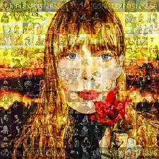 LARGE ORIGINAL PHOTO MOSAIC POSTER - JONI MITCHELL'S ALBUM CLOUDS FROM 1968 No 7